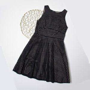 LOFT Fit & Flare Eyelet Dress